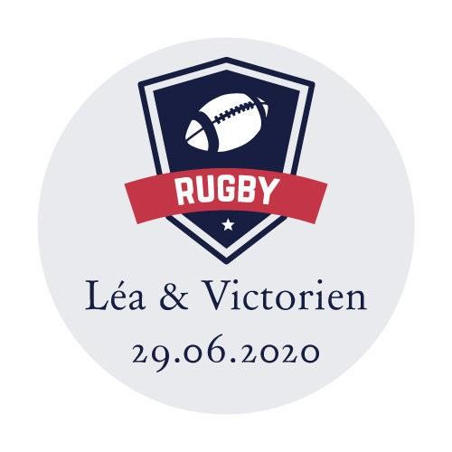 24 stickers Blason Rugby
