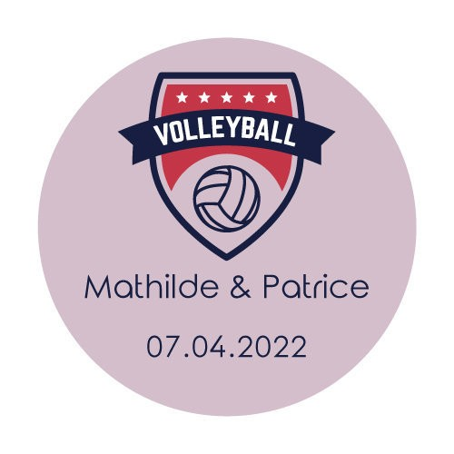 24 stickers Blason Volley