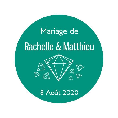 24 stickers ronds Thème Diamant