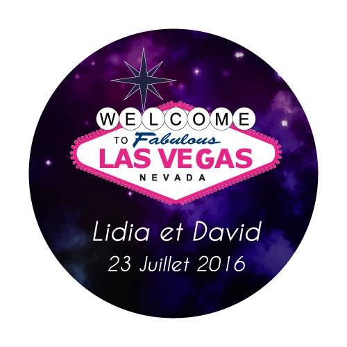 24 Stickers Las Vegas personnalisés