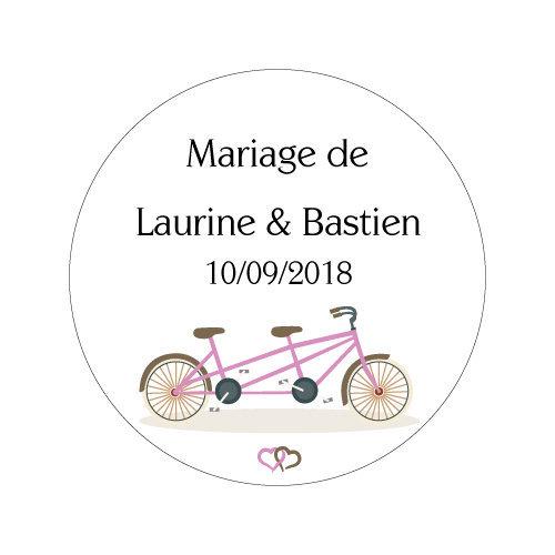 24 Stickers Tandem Amoureux