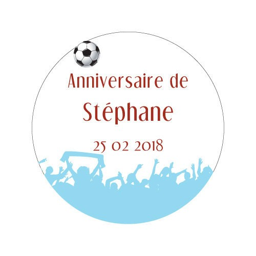 24 stickers Supporters et Ballon Thème Football