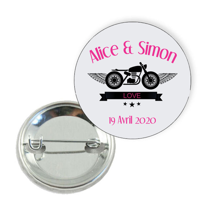 Badge motif Harley Davidson - Prix Dégressifs