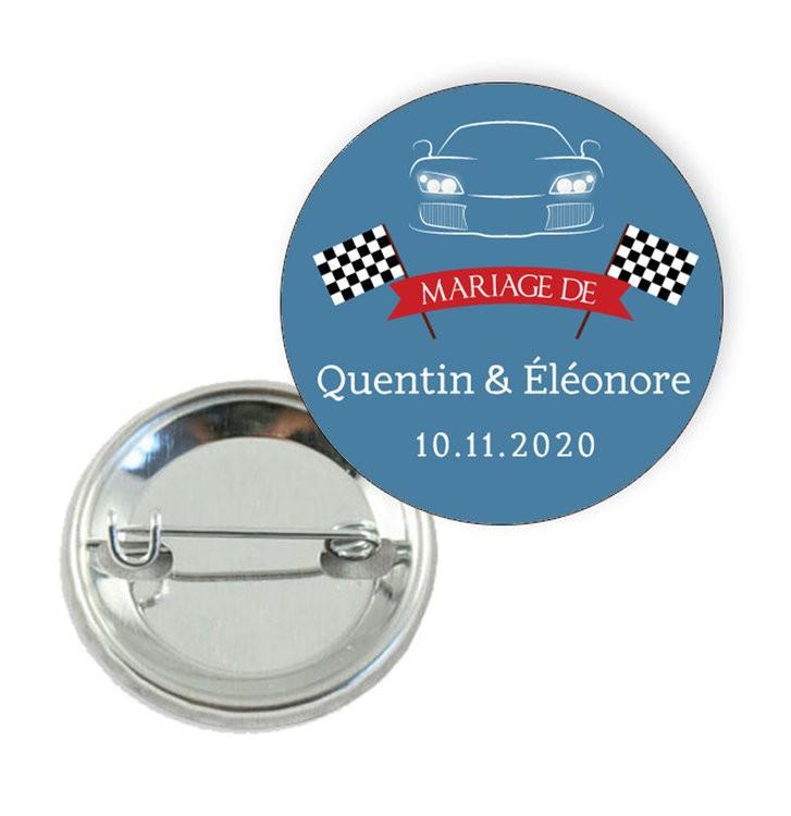 Badge motif Voiture de Course - Prix Dégressifs