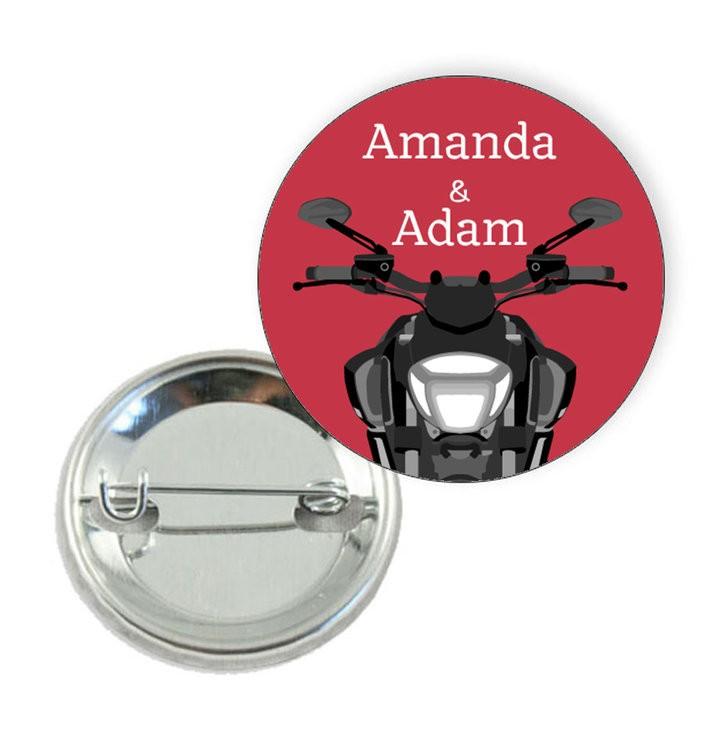Badge motif Moto  - Prix Dégressifs