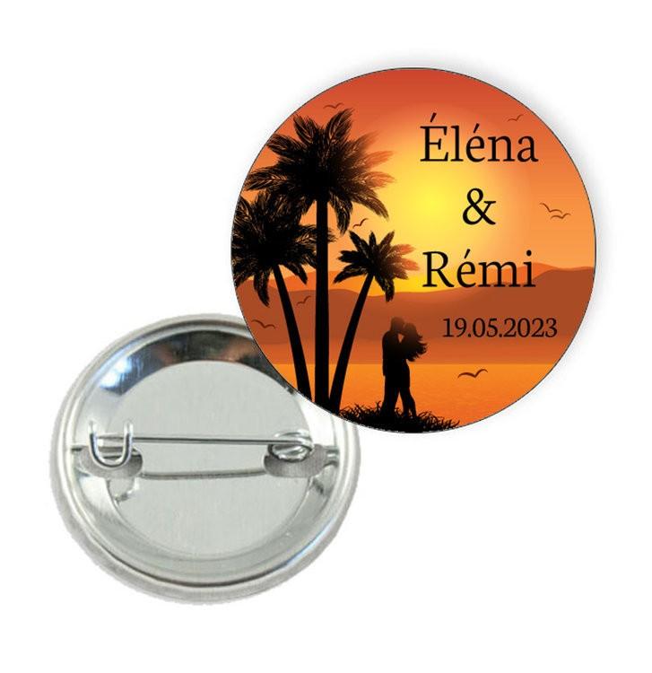 Badge motif Coucher de Soleil Romance- Prix Dégressifs