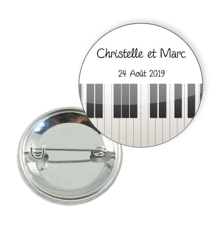 Badge motif notes de musique - Prix Dégressifs