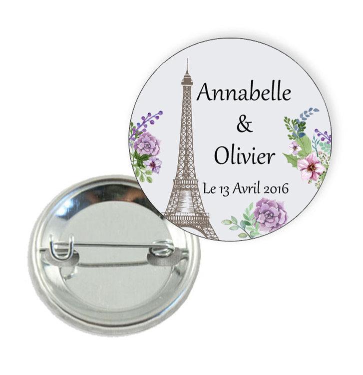 Badge thème Romance à Paris - Prix Dégressifs