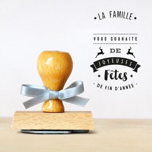 Tampon La famille vous souhaite de joyeuses fêtes !