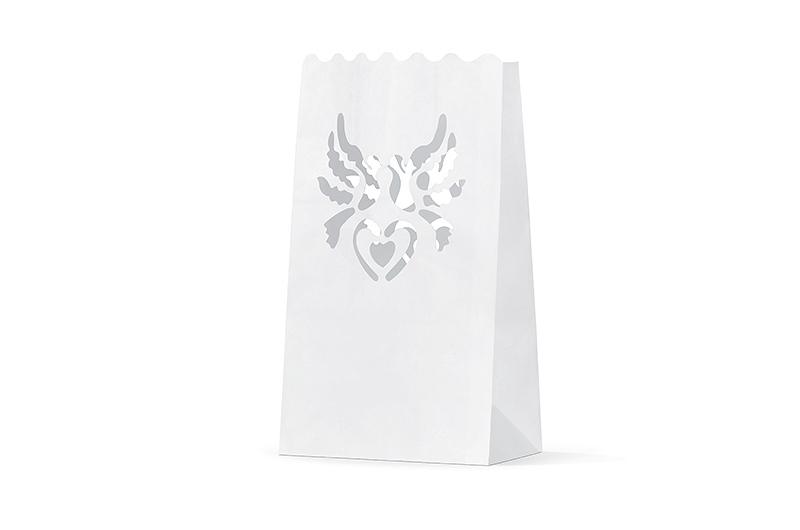 10 Lanternes papier Colombes