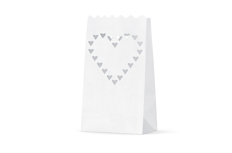 10 Lanternes papier Coeurs