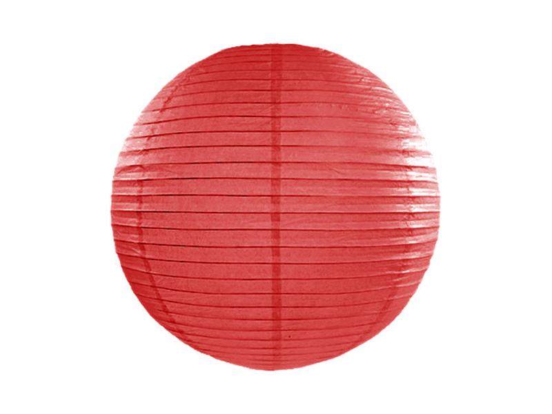Lanterne papier Rouge 25 CM