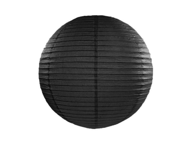 Lanterne papier Noire 25 CM