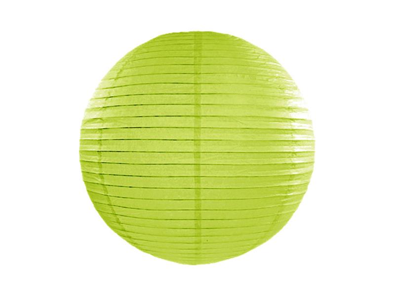 Lanterne papier Vert anis 25 CM