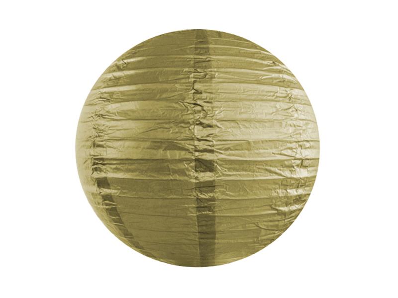 Lanterne papier Doré 25 CM
