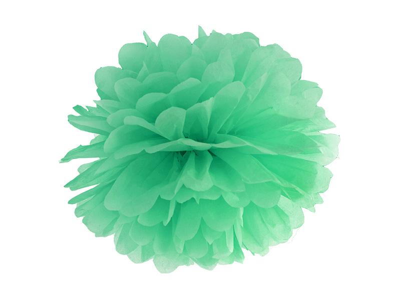 Pompon Papier Vert Menthe 25 cm