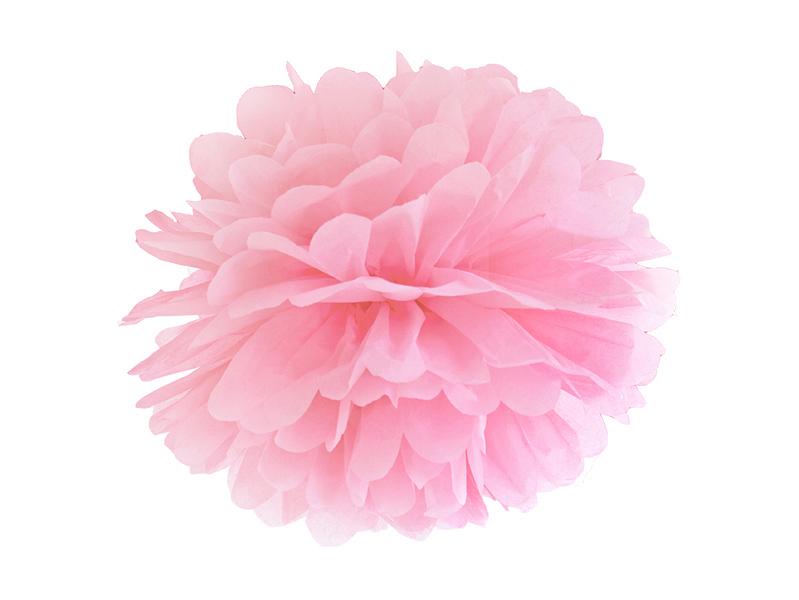 Pompon Papier Rose Clair 35 cm