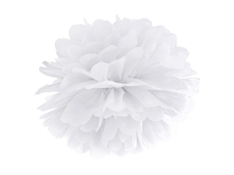 Pompon Papier Blanc 25 cm