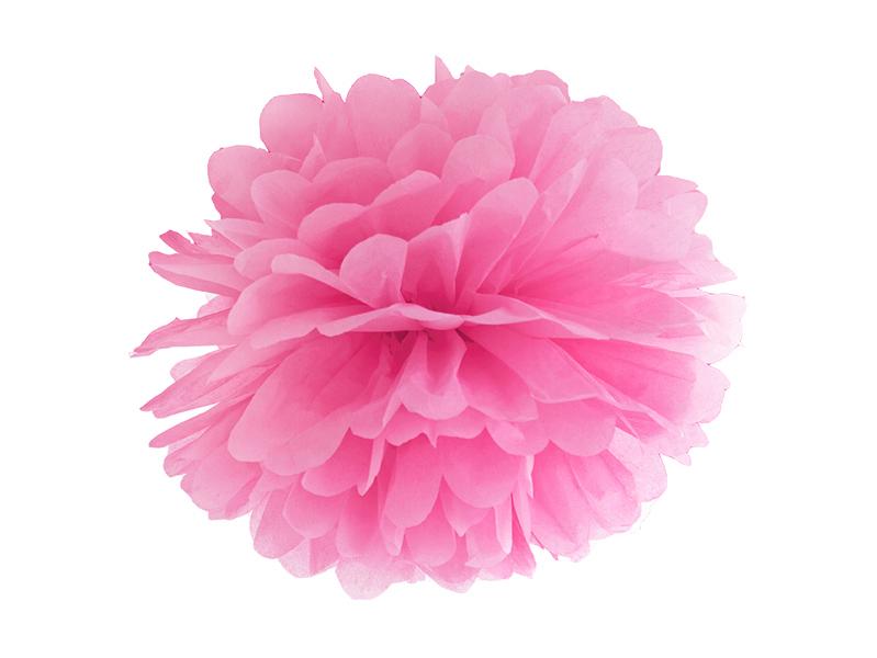 Pompon Papier Rose Foncé 25 cm