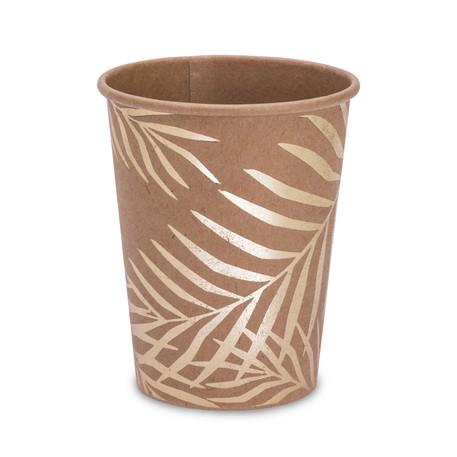 8 gobelets kraft palmiers dorés
