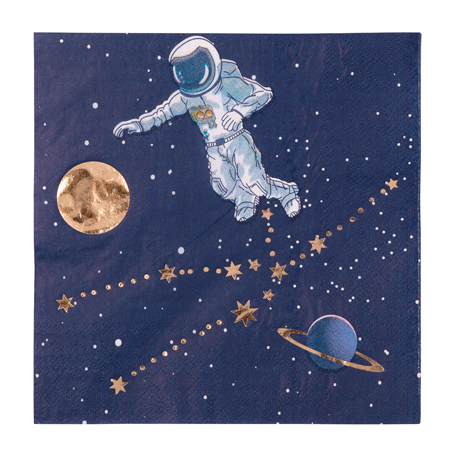 16 serviettes Astronaute