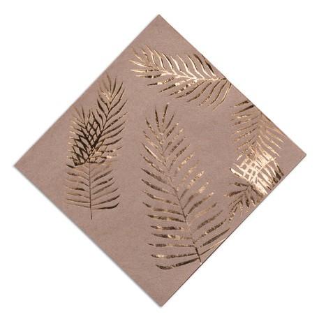 16 serviettes palmiers dorés