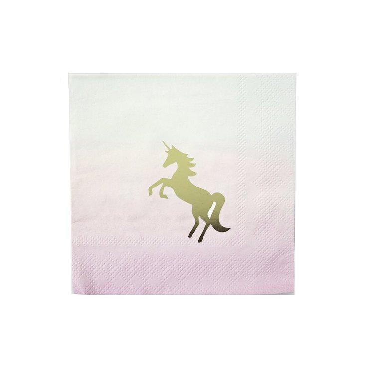 16 serviettes Licorne  I Believe