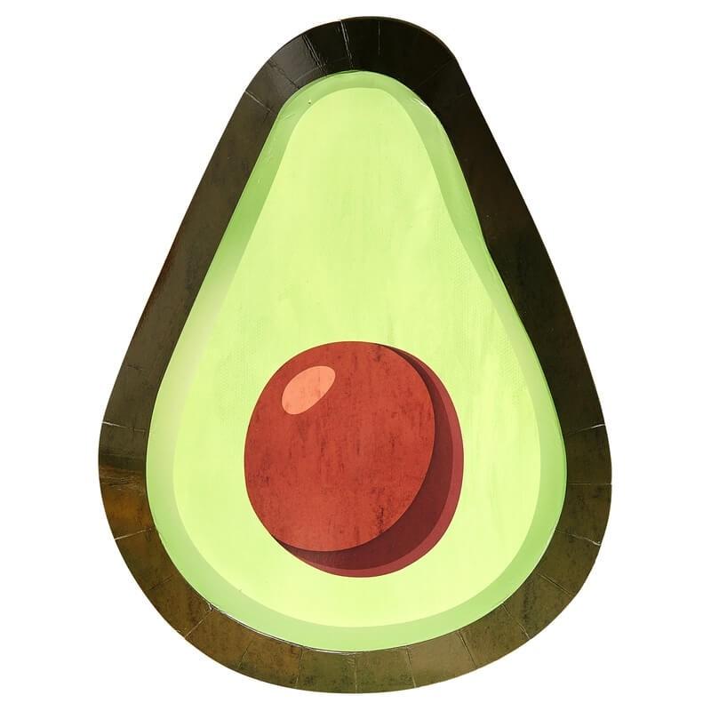 8 assiettes Avocat