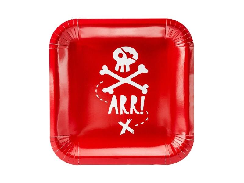 Lot de 6 assiettes Pirate