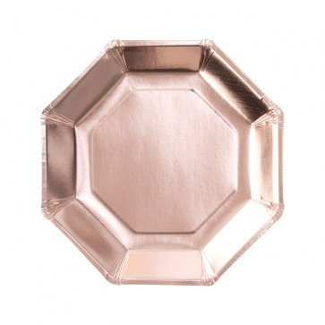 8 assiettes Rose Gold