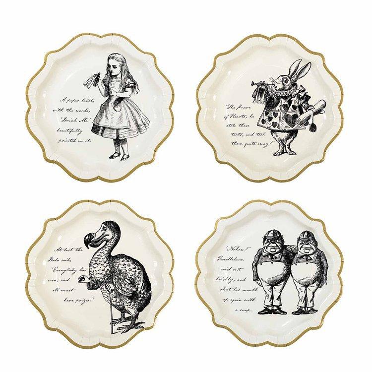 12 assiettes Alice aux pays des merveilles