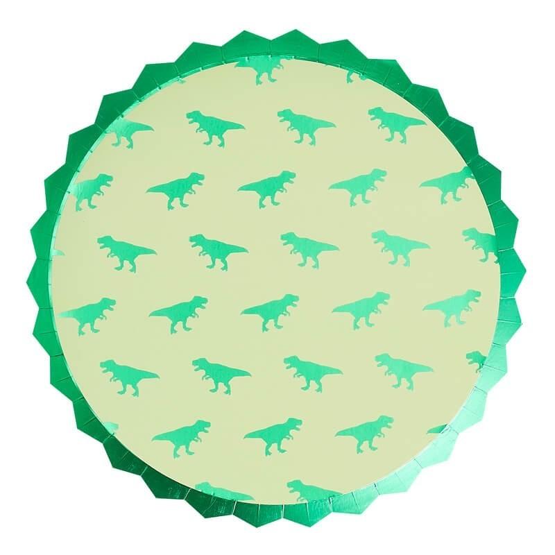 8 assiettes Dinosaure