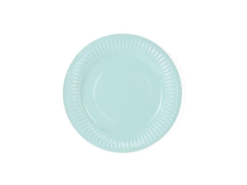 6 assiettes turquoise dessert