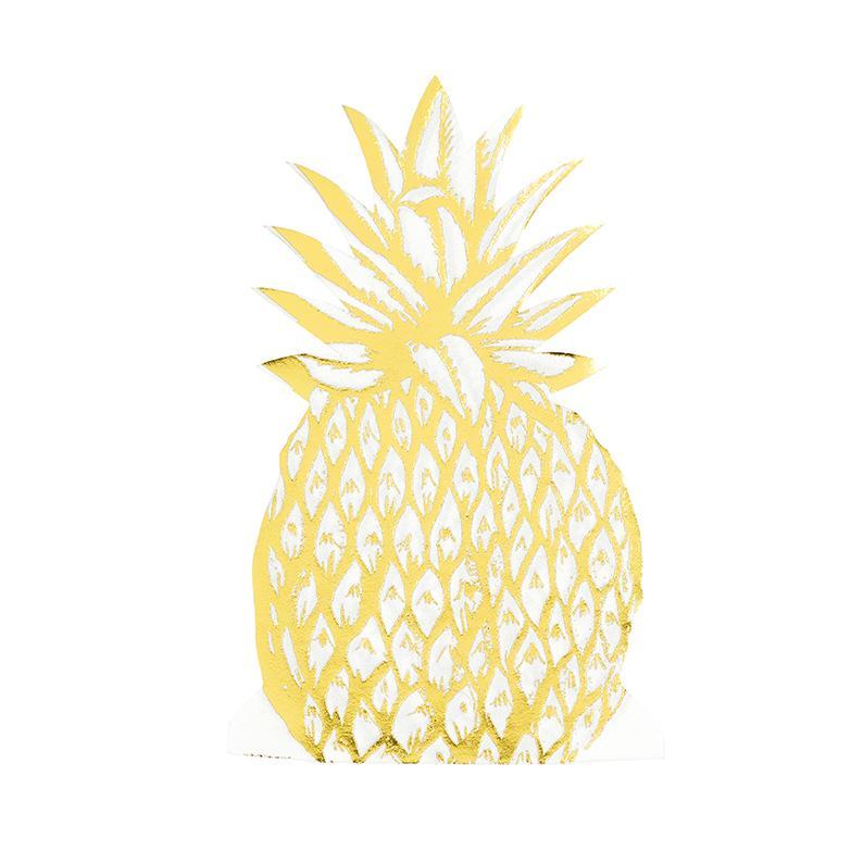 12 serviettes Ananas