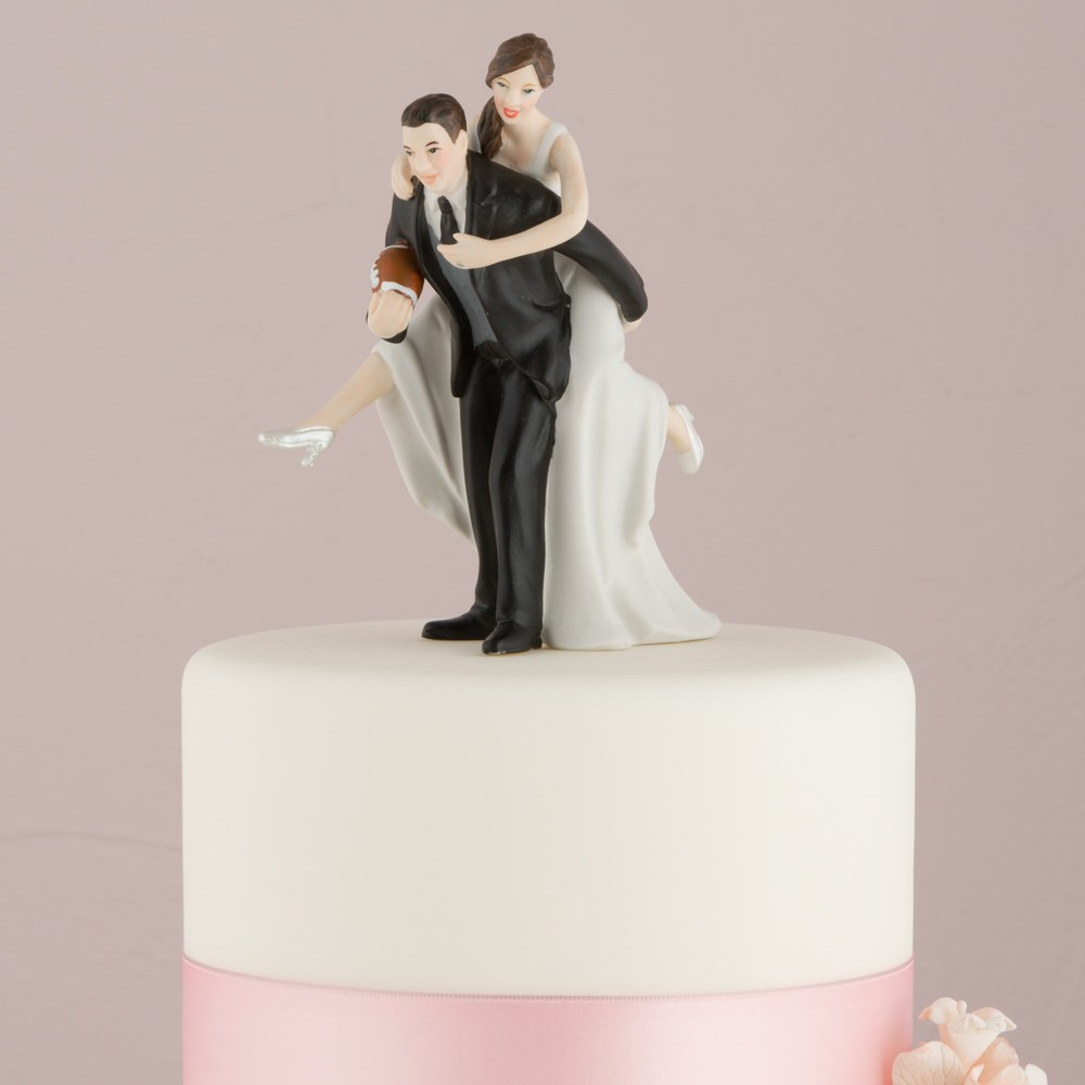 Figurine mariage Fan de Rugby