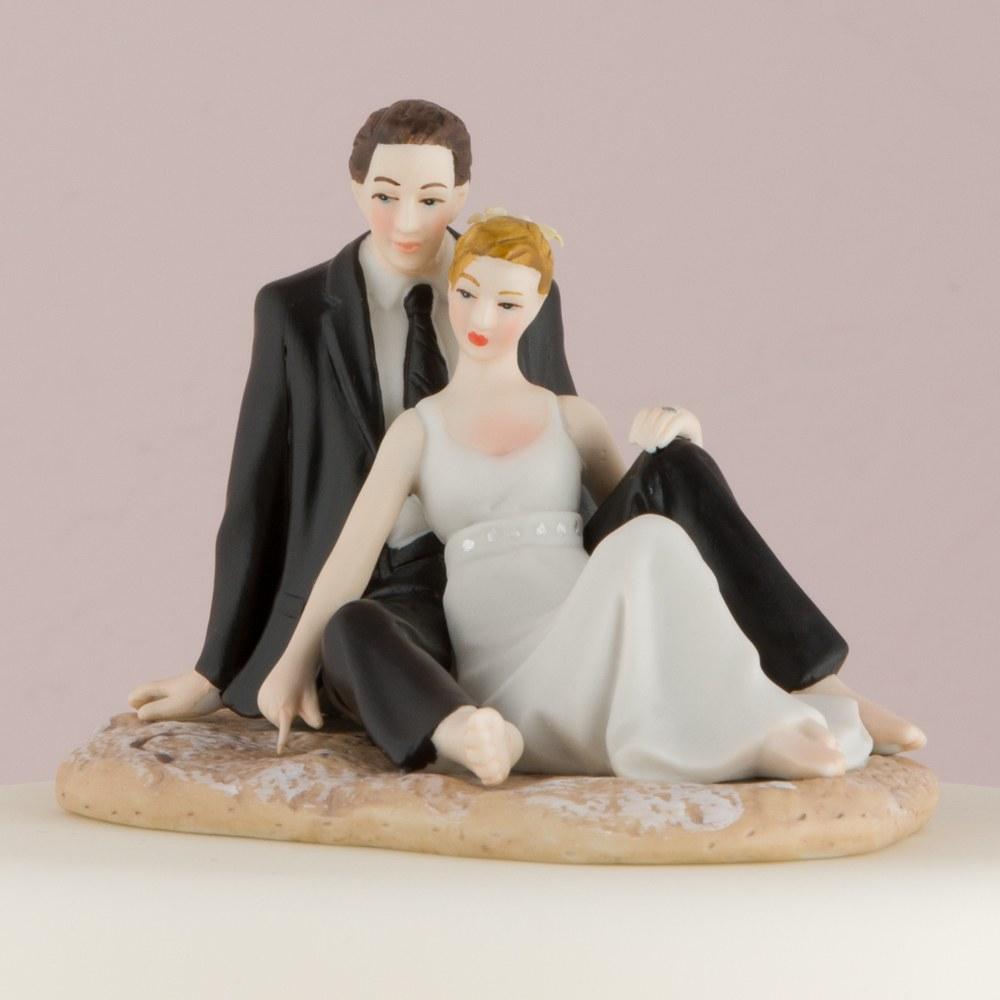 Figurine Mariage Couple allongé sur la plage