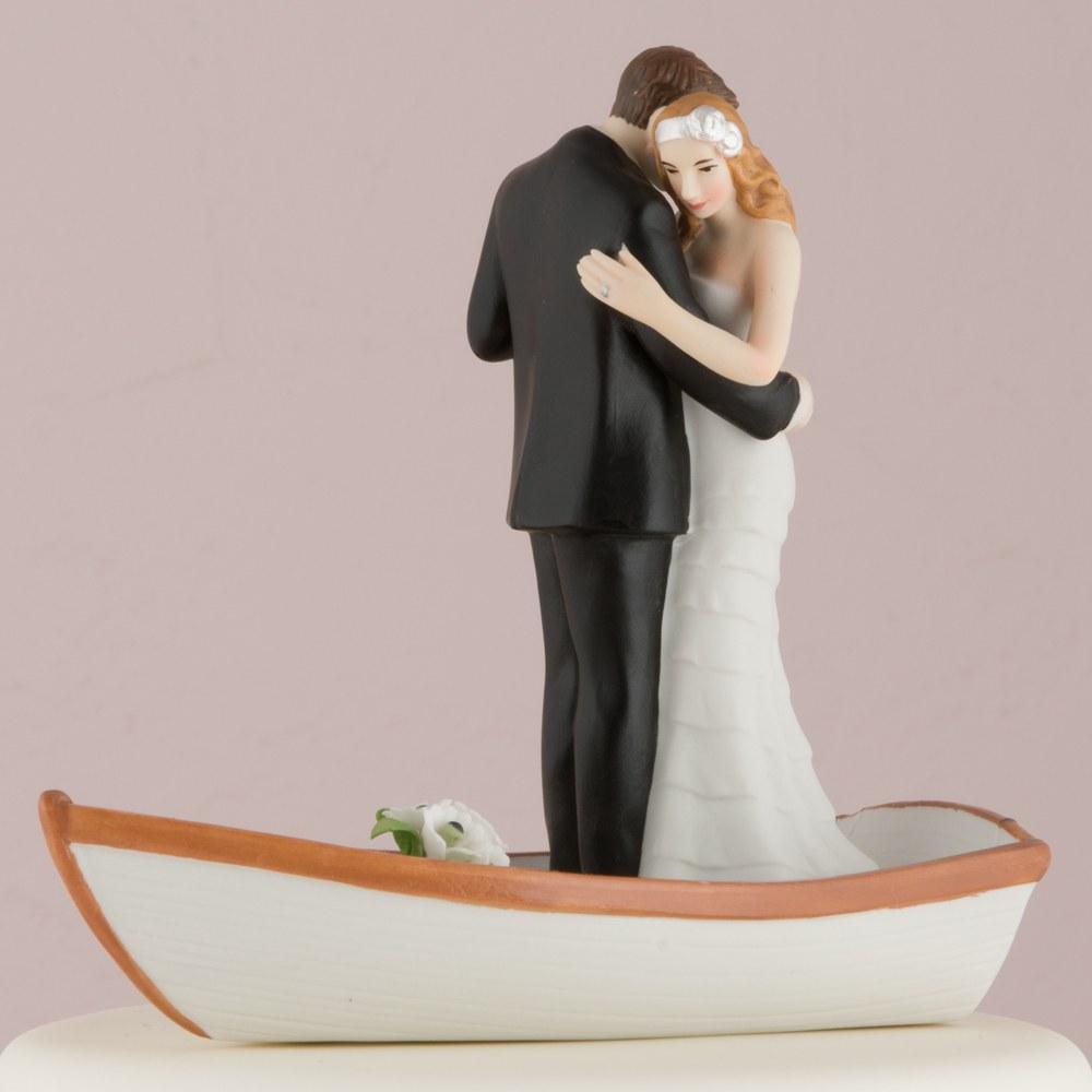 Figurine mariage Sur une barque