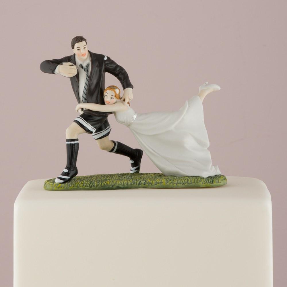 Figurine mariage Au match de Rugby