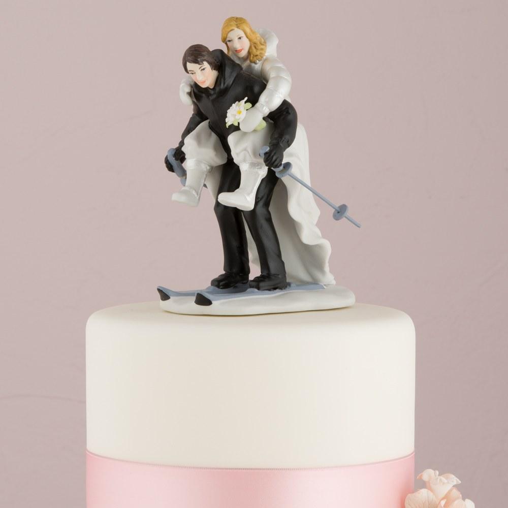 Figurine Mariage Hiver au Ski