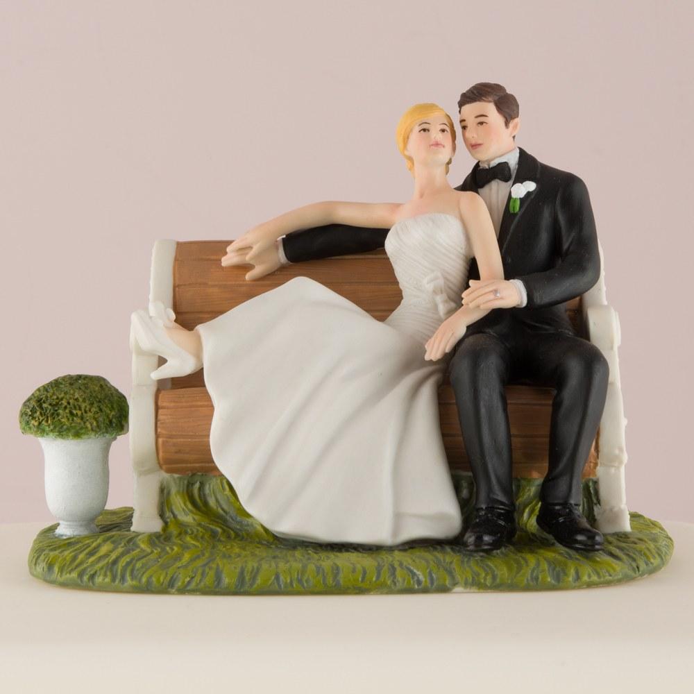 Figurine Couple assis sur un banc