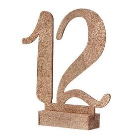 12 numéros de table rose gold en bois