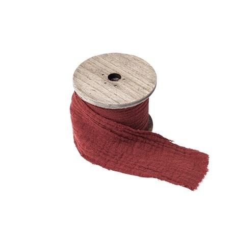 Ruban gaze de coton terracotta