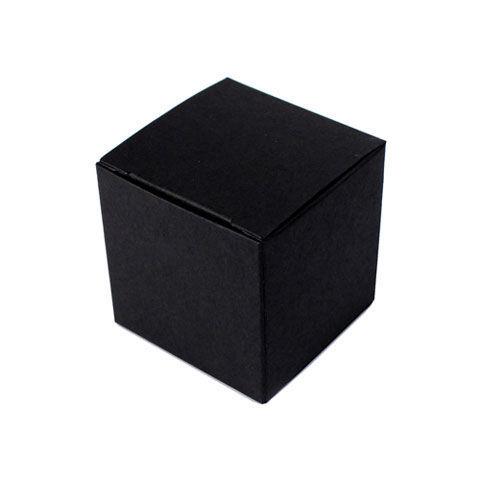10 Boites dragées CUBE noirs