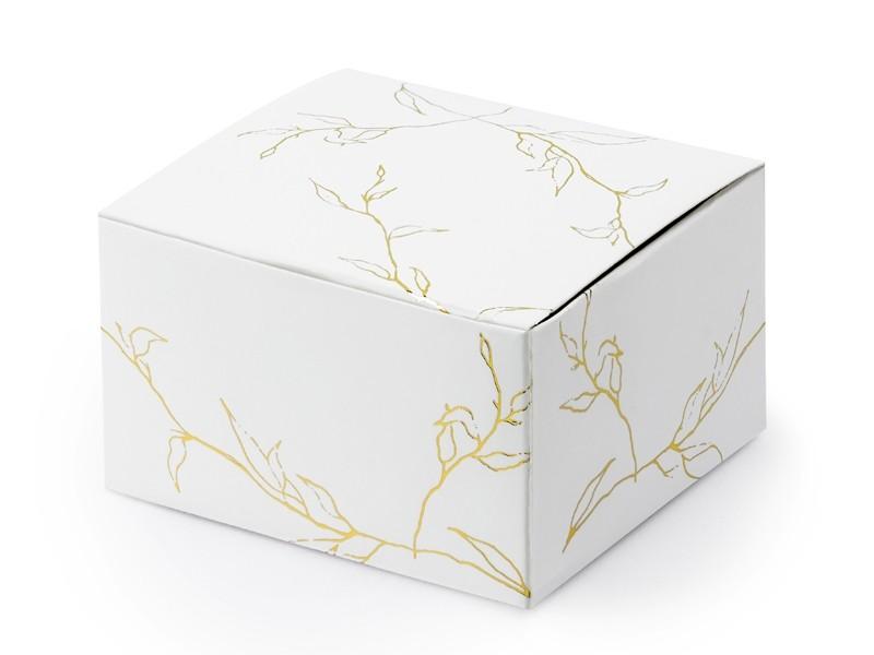 10 boites dragées branches dorées