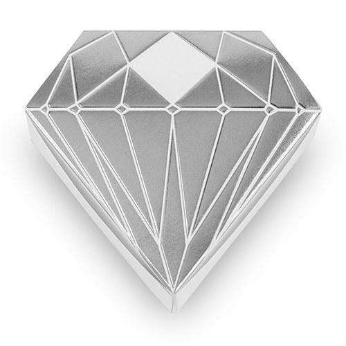 10 boites à dragées Diamant Argentés