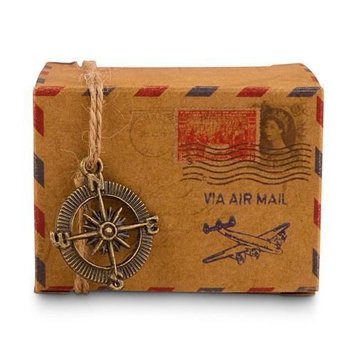 10 boites à dragées vintage airmail