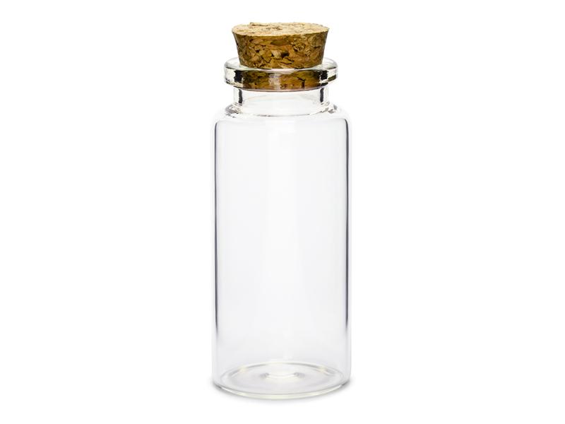 Bouteille verre avec bouchon en liège