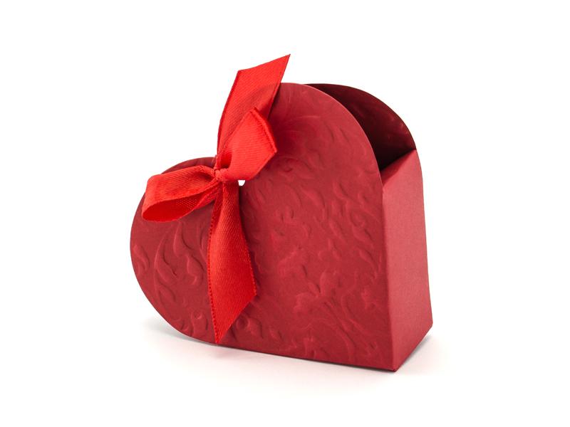 10 Boites dragée forme coeur Rouge