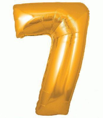 Ballon Chiffre 7 Taille 86 cm DORE