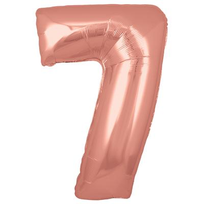 Ballon Chiffre 7 Taille 86 cm Rose Gold